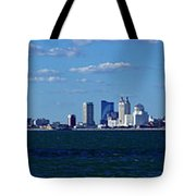 Panoramic View Of Atlantic City, New Jersey Tote Bag