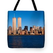 Panoramic View Of Lower Manhattan Tote Bag