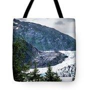Panoramic View Of Mendenhall Glacier Juneau Alaska Tote Bag