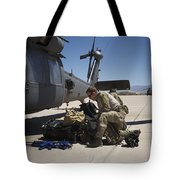 Pararescuemen Sorts Out His Gear Tote Bag