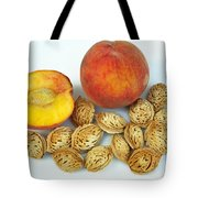 Peaches And Pits Tote Bag
