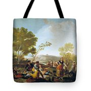 Picnic On The Banks Of The Manzanares Tote Bag