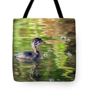 Pied-billed Grebe Bubbles Tote Bag
