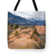 Pikes Peak From Red Rocks Canyon Tote Bag