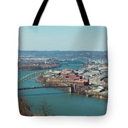 Pittsburg Skyline Tote Bag