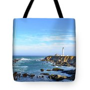 Point Arena Lighthouse Tote Bag by Jim Thompson