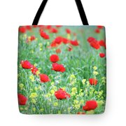 Poppy Flowers Meadow Spring Season Tote Bag