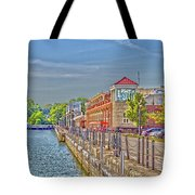 Port Of Rochester Tote Bag by William Norton