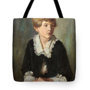 Portrait Of A Seated Child Tote Bag