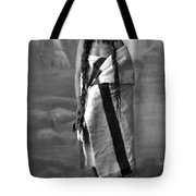 Portrait Of Cree Indian Warrior Tote Bag