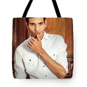 Portrait Of Young Businessman.  Tote Bag