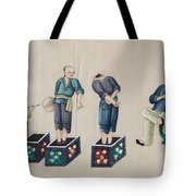 Portraying The Chinese Tea Traders Tote Bag