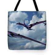 Pterodactyls In Flight Tote Bag