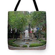 Public Fountain And Gardens In Palma Majorca Spain Tote Bag