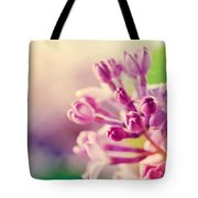Purple Spring Lilac Flowers Blooming Close-up Tote Bag