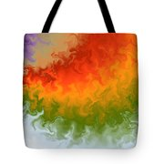 Rainbow On Fire Tote Bag