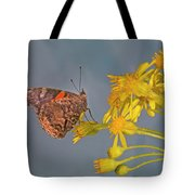 Red Admirable Butterfly Tote Bag