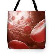 Red Blood Cells In Bloodstream Tote Bag