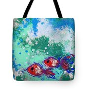 2 Red Fish Tote Bag
