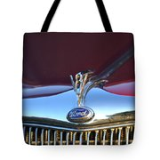 Red Ford Hotrod Tote Bag