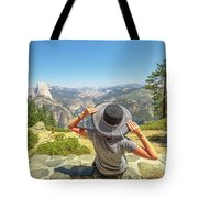 Relaxing At Glacier Point Tote Bag