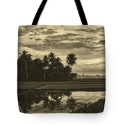 Rice Field Sunrise - Indonesia Tote Bag