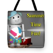 Robo-x9 At The Beach Tote Bag