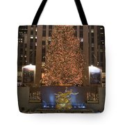 Rockefeller Center And The Famous Tote Bag