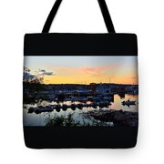 Rockport Harbor Sunset I Tote Bag