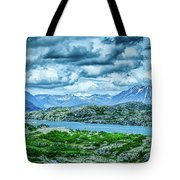 Rocky Mountains Nature Scenes On Alaska British Columbia Border Tote Bag