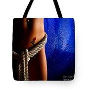 Rope Around Woman's Waist Tote Bag