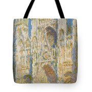 Rouen Cathedral, West Facade, Sunlight Tote Bag