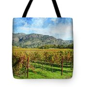 Rows Of Grapevines In Napa Valley Caliofnia Tote Bag