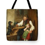 Rustic Interior With Grandfather Tote Bag