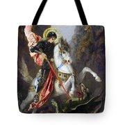 Saint George And The Dragon Tote Bag