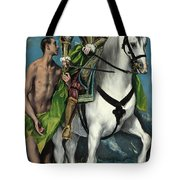 Saint Martin And The Beggar Tote Bag
