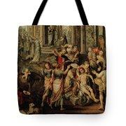 Saint Paul And Saint Barnabas At Lystra Tote Bag