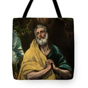 Saint Peter In Tears Tote Bag