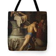 Samson And The Philistines Tote Bag
