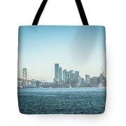 San Francisco California City Skyline At Spring Sunset Tote Bag