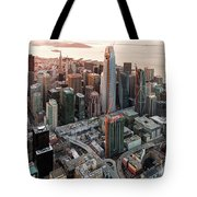San Francisco Financial District Skyline Tote Bag