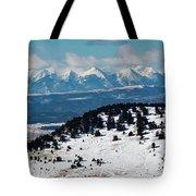 Sangre De Cristo Mountains In Winter Tote Bag