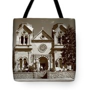Santa Fe - Basilica Of St. Francis Of Assisi Tote Bag
