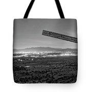 Santa Fe, Nm, From Bonanza Creek Ranch, Illuminated By The Moon, Tote Bag