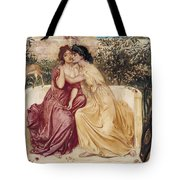 Sappho And Erinna In A Garden At Mytilene Tote Bag