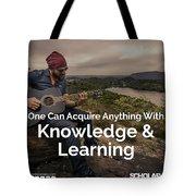 Scholar Talks Tote Bag