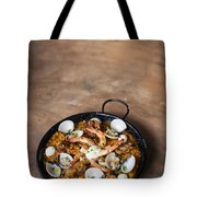 Seafood And Rice Paella Traditional Spanish Food Tote Bag