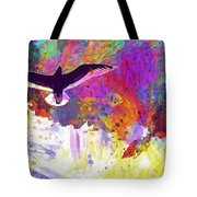 Seagull Blue Sky Freedom Air Fly  Tote Bag