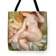 Seated Bather Tote Bag by Pierre Auguste Renoir