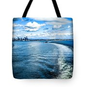Seattle Washington Cityscape Skyline On Partly Cloudy Day Tote Bag